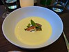 chilled corn soup at Frances in the Castro