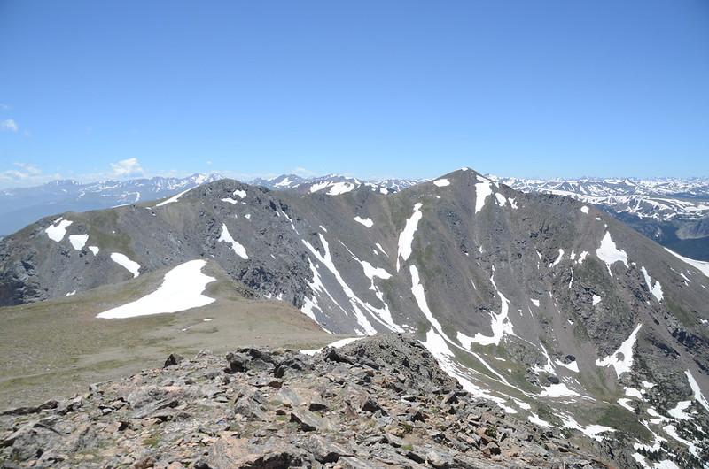 Parry Peak、Mt. Bancroft from James' summit
