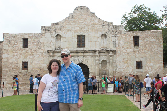 Paul and I at the Alamo