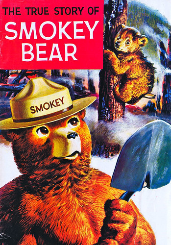 "Students who write to Smokey Bear receive tokens in return, including a copy of ""The True Story of Smokey Bear."" (U.S. Forest Service)"