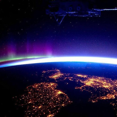 Wow! UK and Ireland & Northern Lights from the International Space station #space