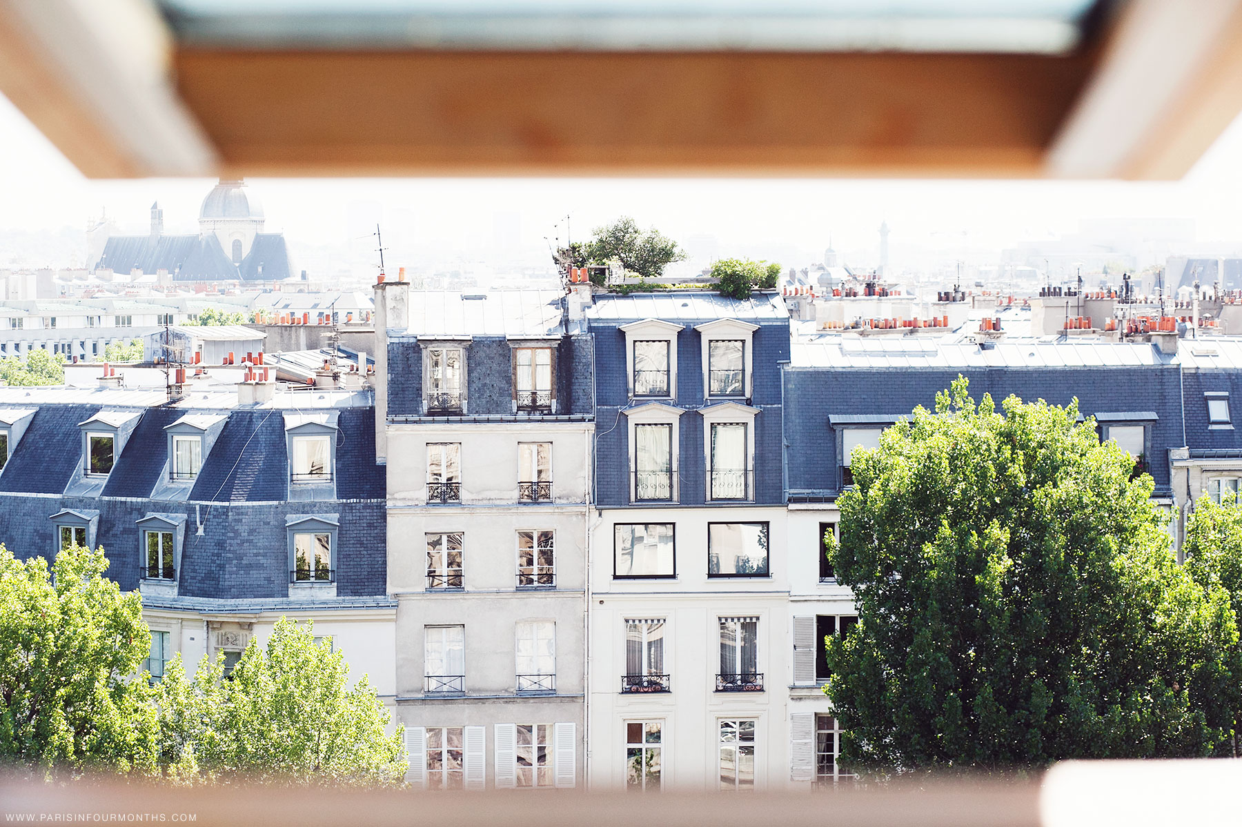 Parisian rooftops by Carin Olsson (Paris in Four Months)