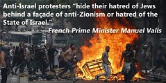 The truth from French PM Manuel Valls: Anti-Israel hatred is nothing more than hatred of Jews