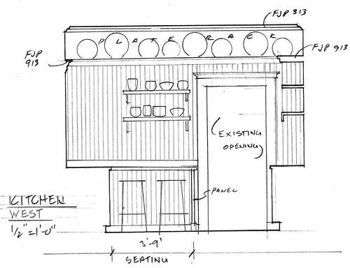 Elevation - Kitchen West