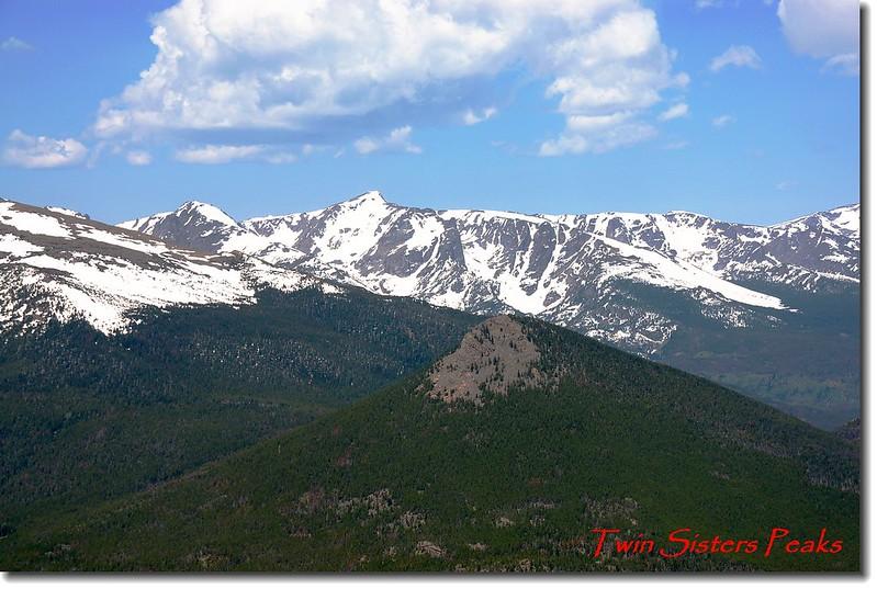 Twin Sister Peaks山頂遠眺落磯山脈 1