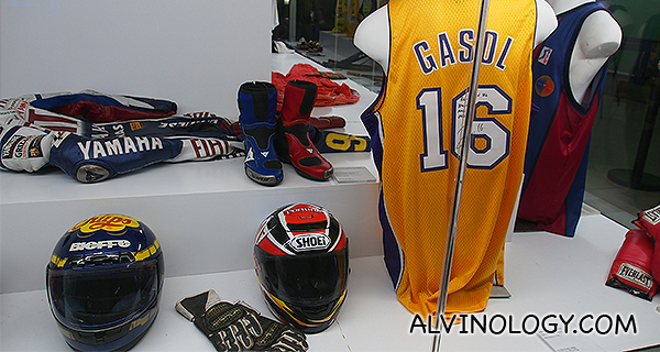 Gasol's signed NBA jersey