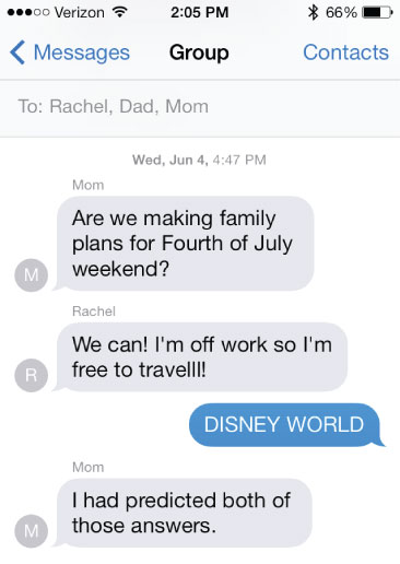 Disney Family Group Text