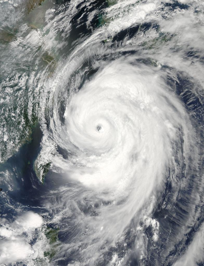 Typhoon Neoguri in the East China Sea