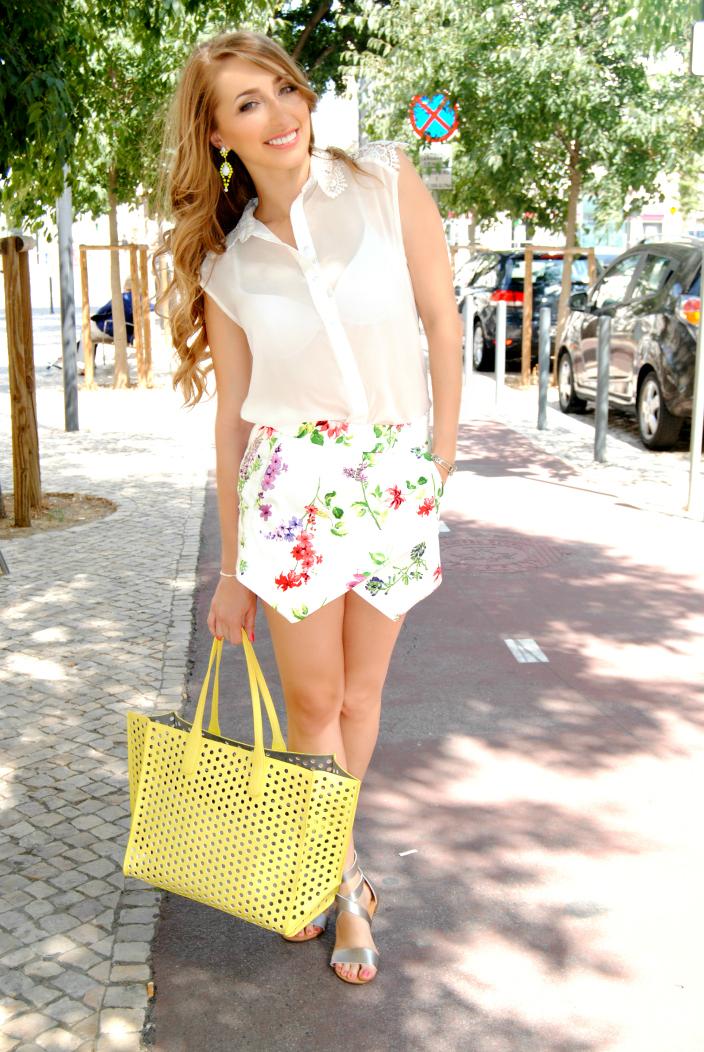 Daily look-Floral Skort (1)