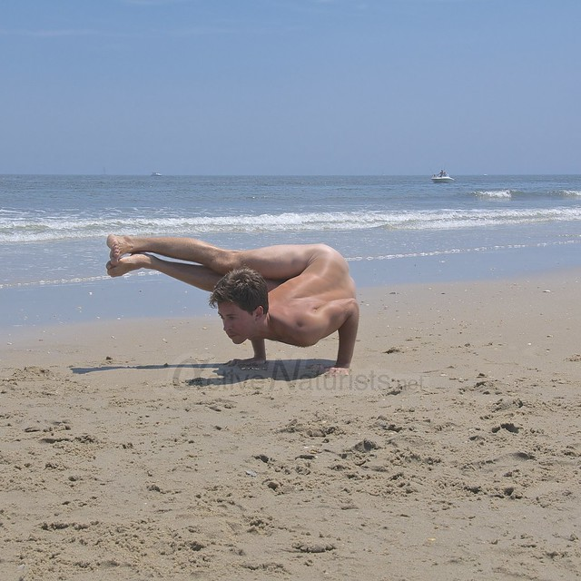 naturist yoga 0002 Sandy Hook, NJ, USA