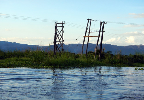 Inle Lake Powerlines, Myanmar
