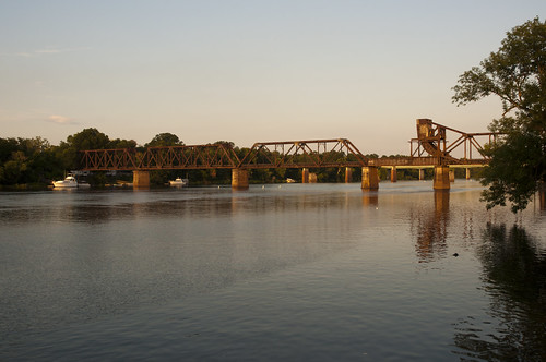 park railroad bridge sunset usa water river georgia nikon wasser unitedstates augusta riverwalk savannahriver richmondcounty d5000 fisherbray 6thstreetrailroadbridge