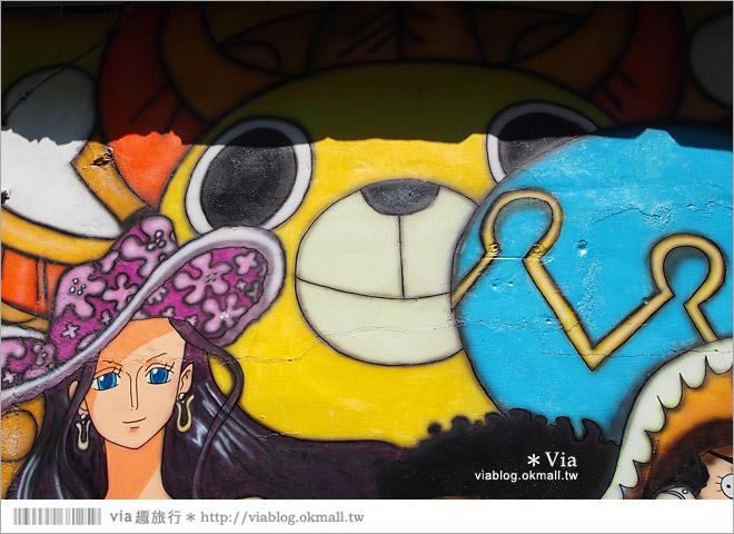 【台中海賊王彩繪】台中新遊點!小巷裡出現海賊王彩繪牆~ONE PIECE迷必訪!20