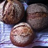 Last-day-of-vacation bread baked up big. Sesame was over-proofed, but tasty, hence only one shown.