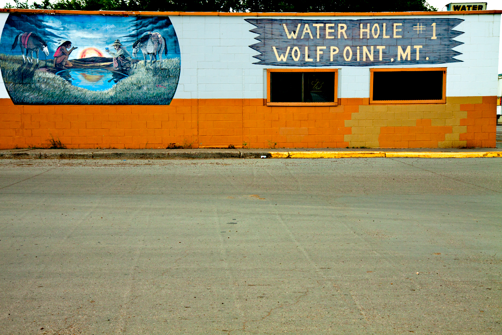 WATER-HOLE--Wolf-Point