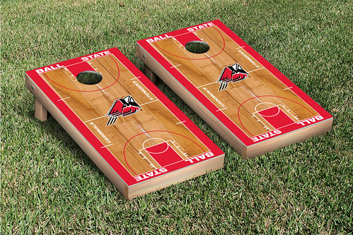 Ball State Cardinals Cornhole Bag Toss Game Set Basketball