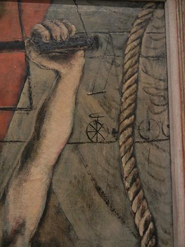 DSCN1315 _ Woman on Trapeze (detail), 1946, Karl Zerbe, Blanton Museu, Austin