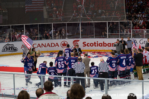 USA vs Canada International Ice Hockey in Sydney 2014