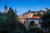 Adolphe Bridge twilight, Luxembourg