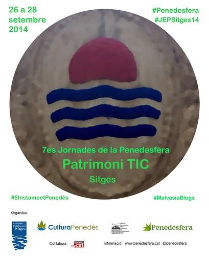 "Cartell 7es Jornades de la Penedesfera: ""Patrimoni TIC"""