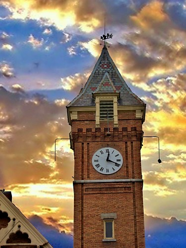 "york travel sunset sky ny building tower clock church architecture clouds town us district united small gothic historical methodist marcellus ""new "" nrhp onasill ""onondaga county""village"