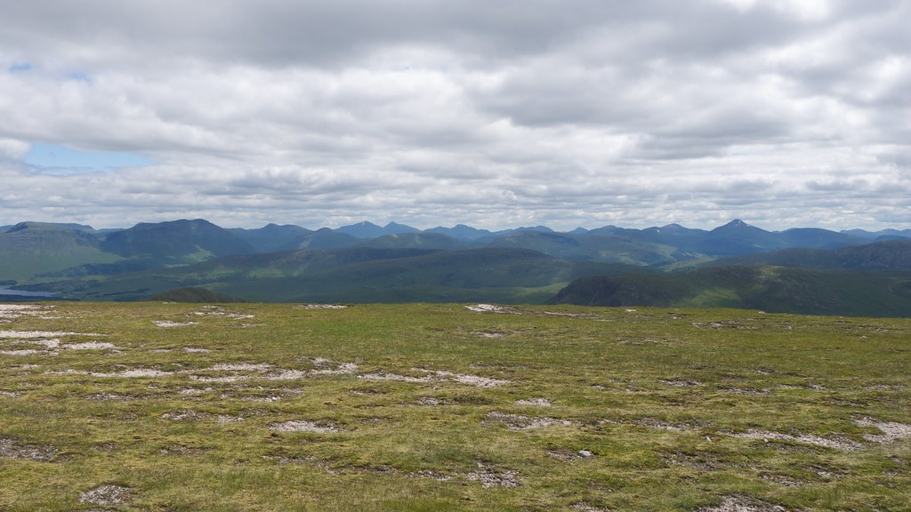 Southern Highlands from summit of Meall nan Eun