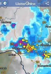 Unwetter über Kostheim - 29.07.14