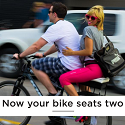 Companion Bike Seat, Now your bike has 2 seats!