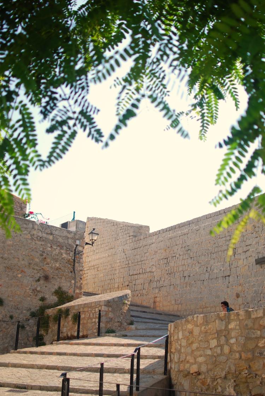 Ibiza old town walls