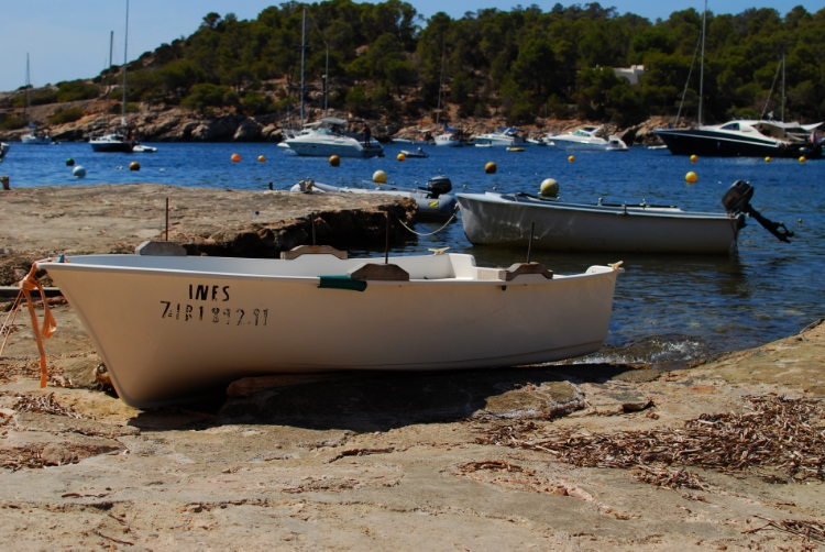boats on the water Cala Salada