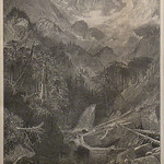 GC255 Thomas Moran; Mountains of the Holy Cross, Colorado; 1876; Engraving - From The Graham and Barbara Curtis Collection