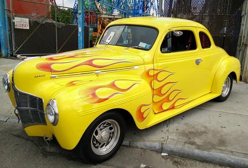 Retro Car.  Show. Coney Island Brooklyn, New York. 2016 #carshow #coneyisland #cars