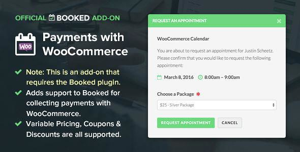 Booked Payments with WooCommerce WordPress Plugin free download