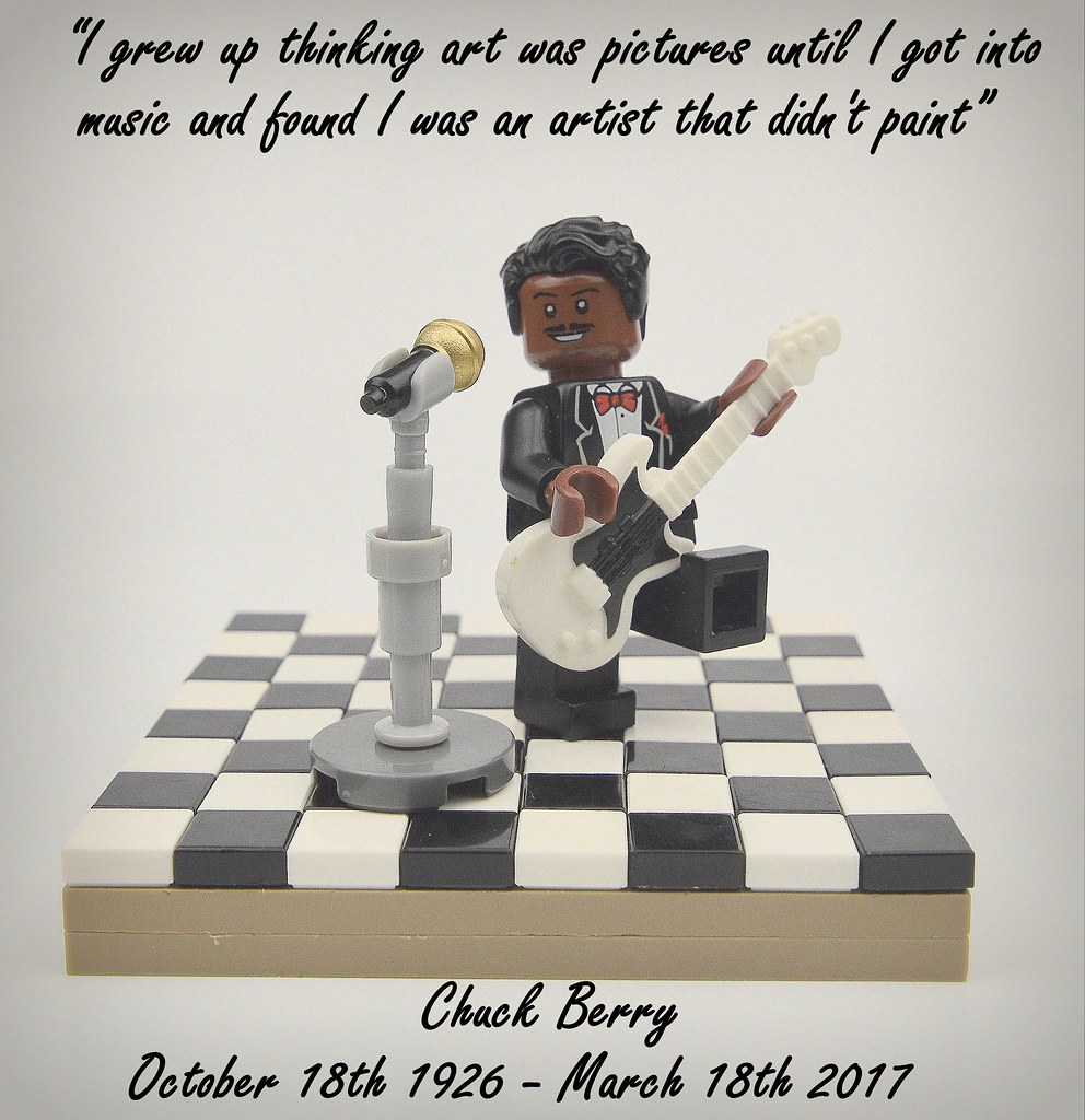 RIP Chuck Berry (custom built Lego model)