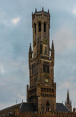 The Belfry (Market Square - Bruges) (Church Our lady inn background) (Olympus OMD EM5II & Leica f1.4 25mm DG Summilux Prime) (1 of 1)