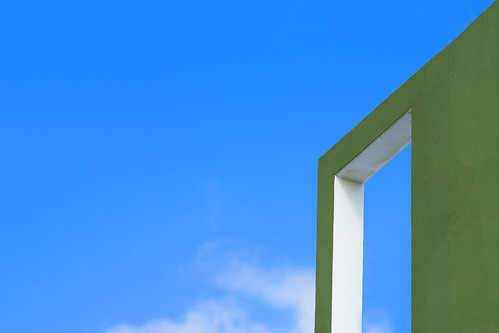 Gate in a green wall