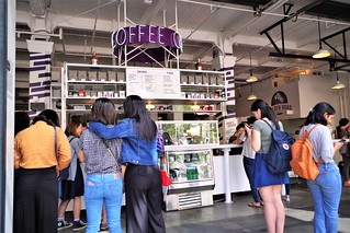 As Always A Line For Great Coffee!