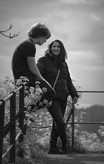 Canon EOS 60D & PicMonkey - Cam & Lisa in the rain at Clifton, Bristol