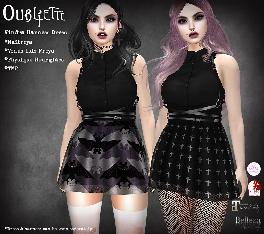 Oubliette- Vindra Harness Dress - SecondLifeHub.com