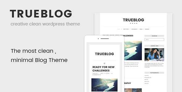 TrueBlog WordPress Theme free download
