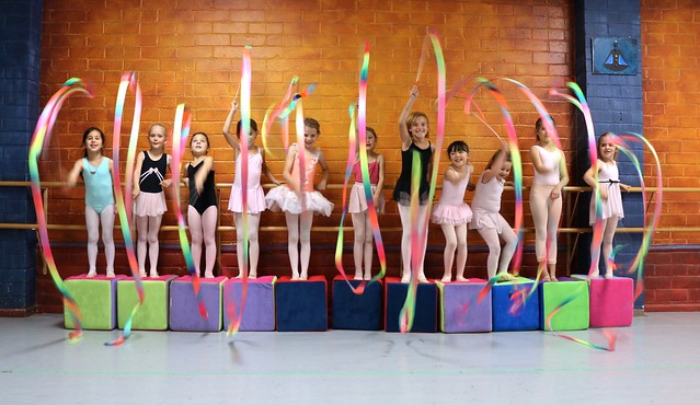Fun With Ribbons In Tuesday 4:30 Ballet Class Photoshoot