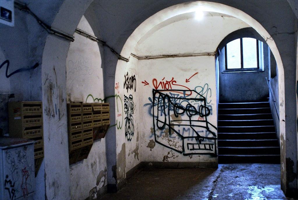 Street art dans le quartier de Kazimierz à Cracovie.