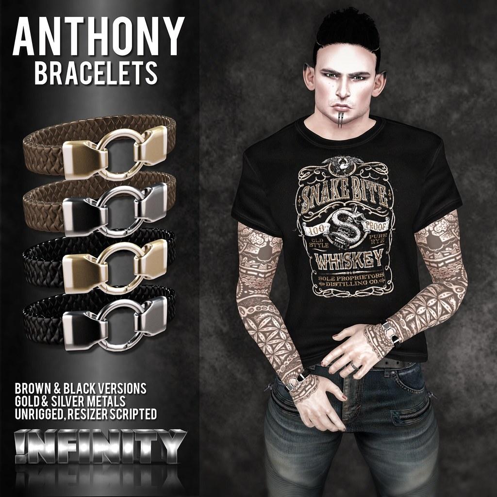 !NFINITY Anthony Bracelets @ MOH9 - SecondLifeHub.com