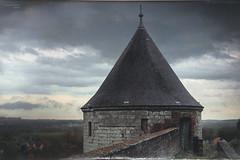 France, Pas-de-Calais, Montreuil-sur-Mer, La tour Blanche. IXe S. 16h57, avant l'orage.