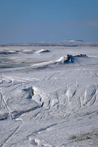 Snow Machine Tracks to Hunting Grounds