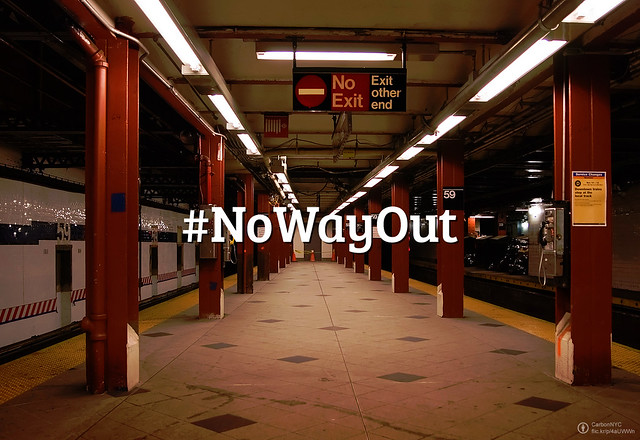 #FlickrFriday: No Way Out. Do you sometimes feel that you're stuck in a place or situation and there's no way for you to change it? Restage the feeling for this week's challenge.