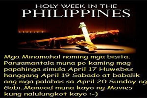 HOLY WEEK 2014 - Apr 17, 2014