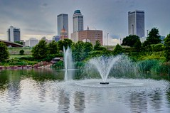 Downtown Tulsa from Centennial Park