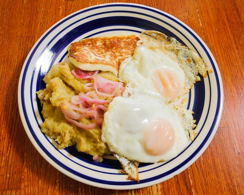 Mangu, Eggs, Fried Cheese