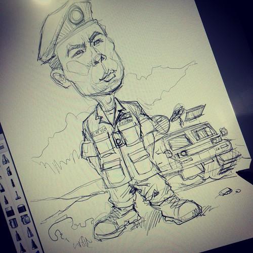 digital caricature for SAF - 02042014